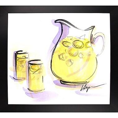 Ebern Designs 'Life Gives You Lemons...' Print; Black Wood Large Framed Paper