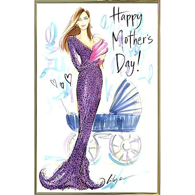East Urban Home 'Happy Mother's Day' Print; Gold Metal Framed Paper