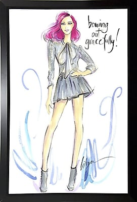 East Urban Home 'Bowing Out Gracefully' Print; Black Plastic Framed Paper