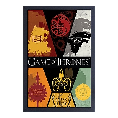 East Urban Home 'Game of Thrones-Sigils' Framed Graphic Art Print