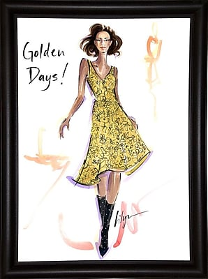 East Urban Home 'Golden Days' Print; Bistro Expresso Framed Paper
