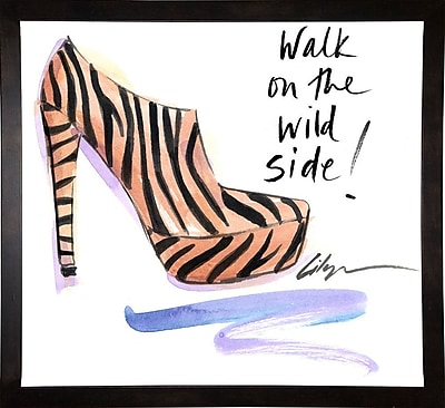 East Urban Home 'Walk on the Wild Side' Print; Cafe Espresso Wood Framed Paper