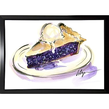 East Urban Home 'Pie a La Mode' Print; Black Plastic Framed Paper