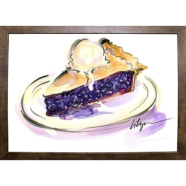 East Urban Home 'Pie a La Mode' Print; Cafe Mocha Framed Paper