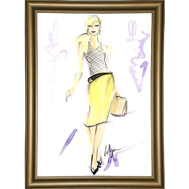 East Urban Home 'Chic Citron' Print; Bistro Gold Framed Paper