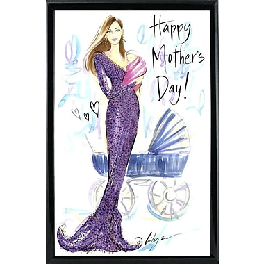 East Urban Home 'Happy Mother's Day' Print; Black Metal Framed Paper