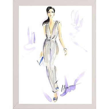 East Urban Home 'Silver Wear' Print; White Wood Medium Framed Paper