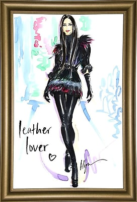 East Urban Home 'Leather Lover' Print; Bistro Gold Framed Paper
