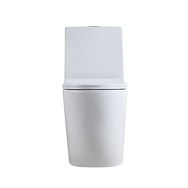 Hometure Dual Flush Elongated One-Piece Toilet