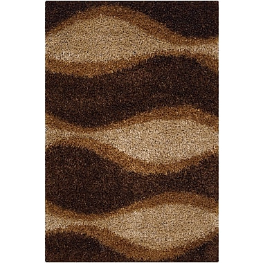 Latitude Run Stockwell Chocolate Area Rug; Rectangle 7'9'' x 10'6''