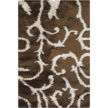 Latitude Run Stockwell Brown/White Area Rug; Rectangle 7'9'' x 10'6''