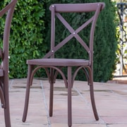 Winston Porter Blakemore Vintage Style Patio Dining Chair (Set of 2); Coffee