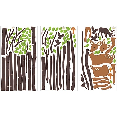 CherryCreekDecals Tranquil Woodland Nursery Wall Decal