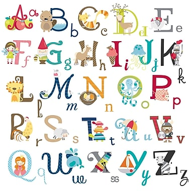 CherryCreekDecals Alphabet Wonderland Nursery Wall Decal