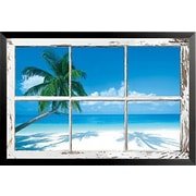 Bay Isle Home 'Palm Tree and Ocean' Framed Photographic Print Poster