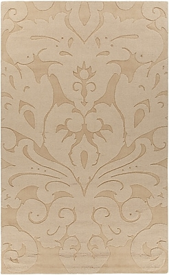 Rosdorf Park Raya Contemporary Wool Gold Area Rug; 5' x 8'