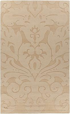 Rosdorf Park Raya Contemporary Wool Gold Area Rug; 8' x 11'
