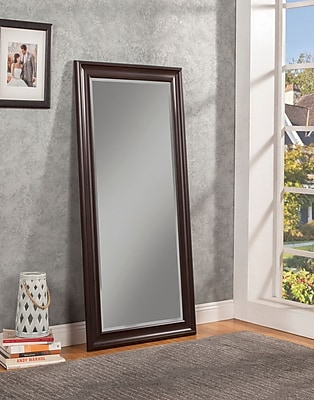 Willa Arlo Interiors Modern Full Length Leaning Mirror; Espresso