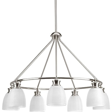 Latitude Run Feissal 7-Light Shaded Chandelier; Brushed Nickel