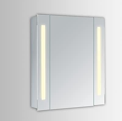Orren Ellis Corby 23.5'' x 30'' Surface Mount Medicine Cabinet w/ LED Lighting; 3000K