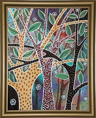 Winston Porter 'Nifty Trees 1' Print; Bistro Gold Framed Paper