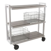 Atlantic Transformable 3 Tier Mobile Utility Cart; White/Gray