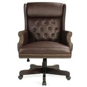 Alcott Hill Benningfield Wingback Traditional Ergonomic Executive Chair; Brown
