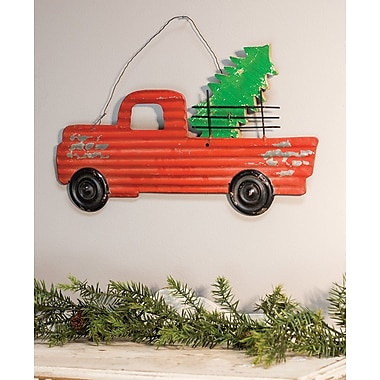 August Grove Traditional Corrugated Truck Hanger Wall D cor