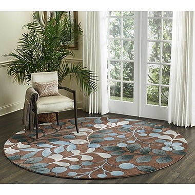 Alcott Hill Holmes Hand Tufted Brown/Gray Area Rug; Round 8'