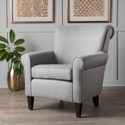 Alcott Hill Temples Armchair; Gray