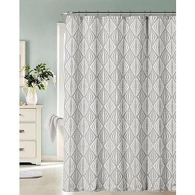 Brayden Studio Raglin Shower Curtain; Silver