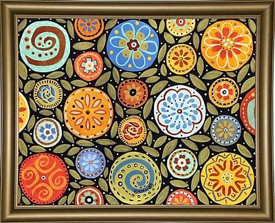 Winston Porter 'Garden Blooms 1' Print; Bistro Gold Framed Paper