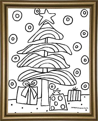 Winston Porter 'Christmas Tree' Print; Bistro Gold Framed Paper