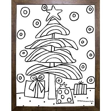 Winston Porter 'Christmas Tree' Print; Cafe Mocha Framed Paper