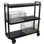 Atlantic Transformable 3 Tier Mobile Utility Cart; Black