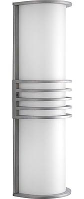 Brayden Studio Wyckoff 2-Light Flush Mount; Satin Aluminum
