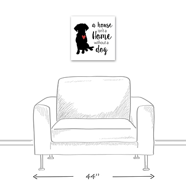 East Urban Home 'House Home Dog' Textual Art on Canvas; 16'' H x 16'' W