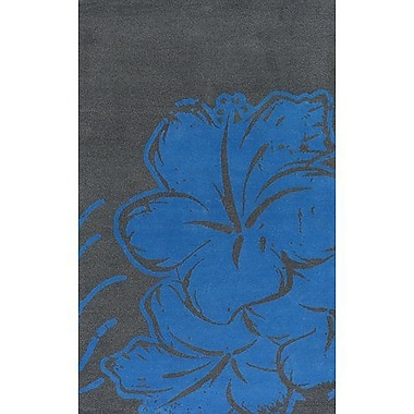 East Urban Home Blue/Gray Area Rug; Rectangle 5' x 7'6''