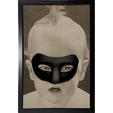 East Urban Home 'Baby Hero' Framed Graphic Art Print; Black Plastic Framed Paper