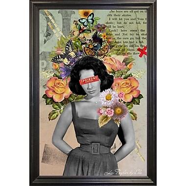 East Urban Home 'Liz Taylor' Framed Graphic Art Print; Black Wood Grande Framed Paper