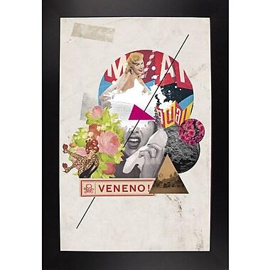 East Urban Home 'Veneno' Framed Graphic Art Print; Black Wood Large Framed Paper
