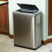EKO Stainless Steel 10.5 Gallon Motion Sensor Multi-Compartments Trash and Recycling Bin