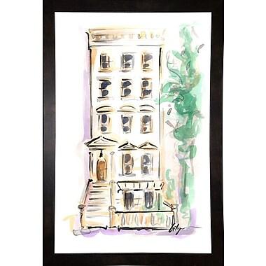 East Urban Home 'Town House' Print; Black Wood Medium Framed Paper
