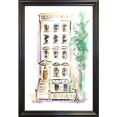 East Urban Home 'Town House' Print; Black Wood Grande Framed Paper