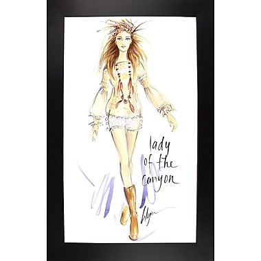 East Urban Home 'Lady of the Canyon' Print; Black Wood Large Framed Paper