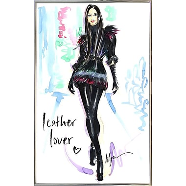 East Urban Home 'Leather Lover' Print; Silver Metal Framed Paper