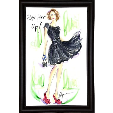 East Urban Home 'Rev Her Up' Print; Bistro Expresso Framed Paper
