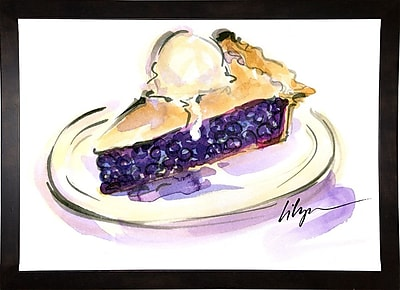 East Urban Home 'Pie a La Mode' Print; Cafe Espresso Wood Framed Paper