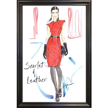 East Urban Home 'Scarlet and Leather' Print; Black Wood Grande Framed Paper