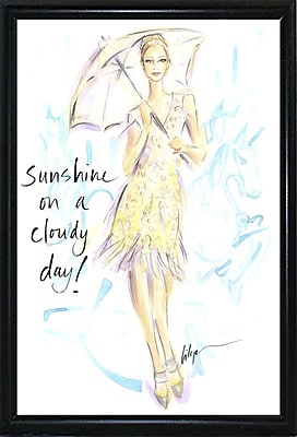 East Urban Home 'Sunshine on a Cloudy Day' Print; Black Metal Flat Framed Paper